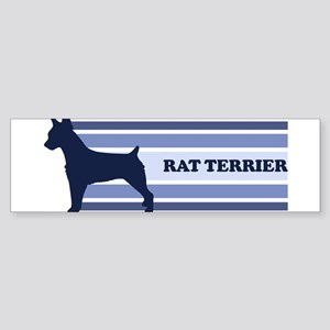 Rat Terrier (retro-blue) Bumper Sticker