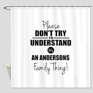 Custom Family Thing Shower Curtain