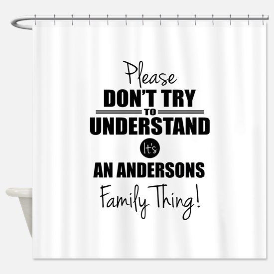 Custom Family Thing Shower Curtain