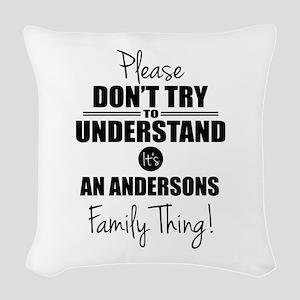 Custom Family Thing Woven Throw Pillow