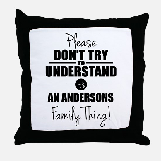 Custom Family Thing Throw Pillow