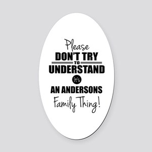 Custom Family Thing Oval Car Magnet