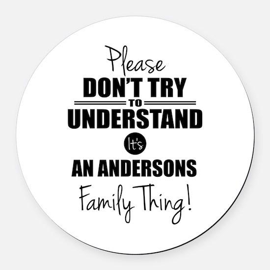 Custom Family Thing Round Car Magnet