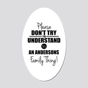 Custom Family Thing 20x12 Oval Wall Decal