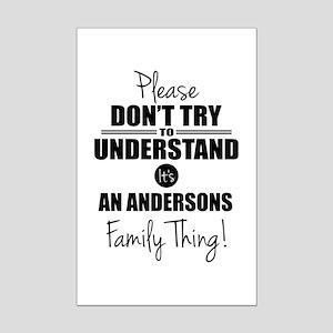 Custom Family Thing Mini Poster Print