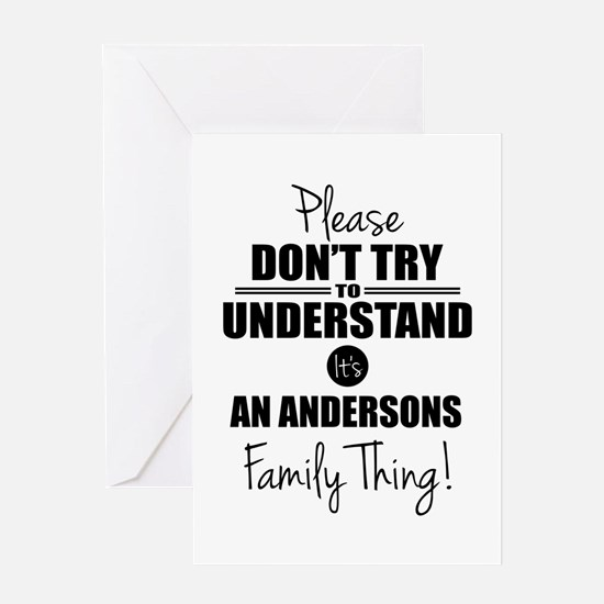 Custom Family Thing Greeting Card
