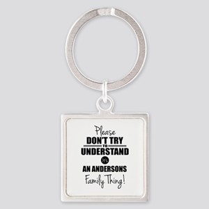 Custom Family Thing Square Keychain