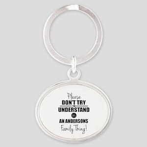 Custom Family Thing Oval Keychain