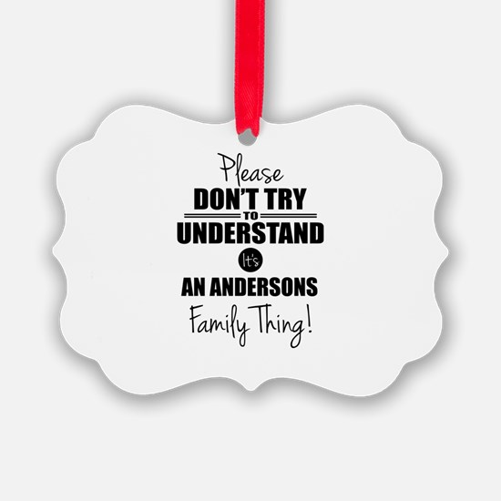 Custom Family Thing Ornament
