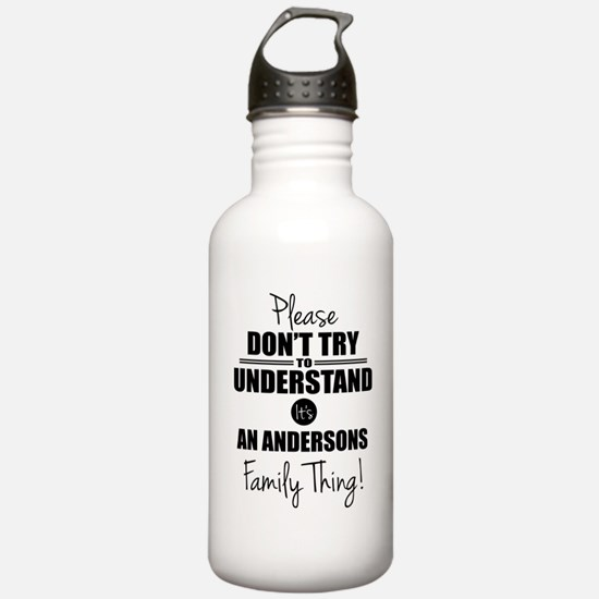 Custom Family Thing Water Bottle