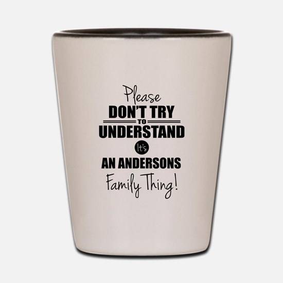 Custom Family Thing Shot Glass