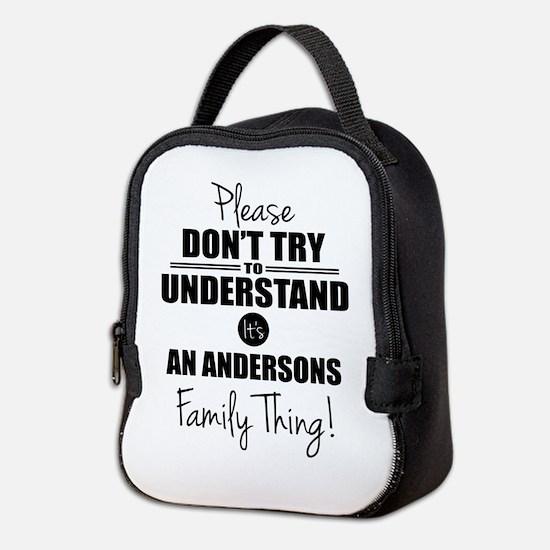 Custom Family Thing Neoprene Lunch Bag