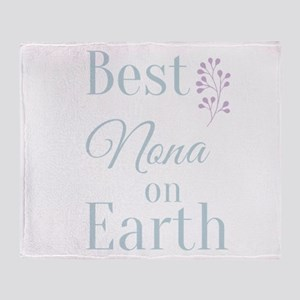 Best Nona on Earth Throw Blanket