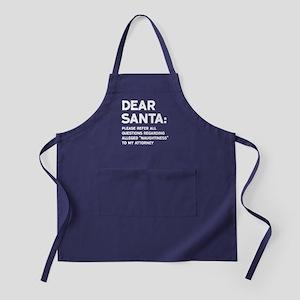 Dear Santa: Alleged Naughtiness Apron (dark)