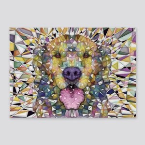 Rainbow Dog 5 X7 Area Rug