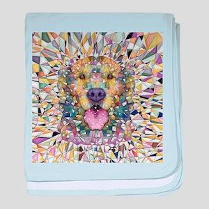 Rainbow Dog baby blanket