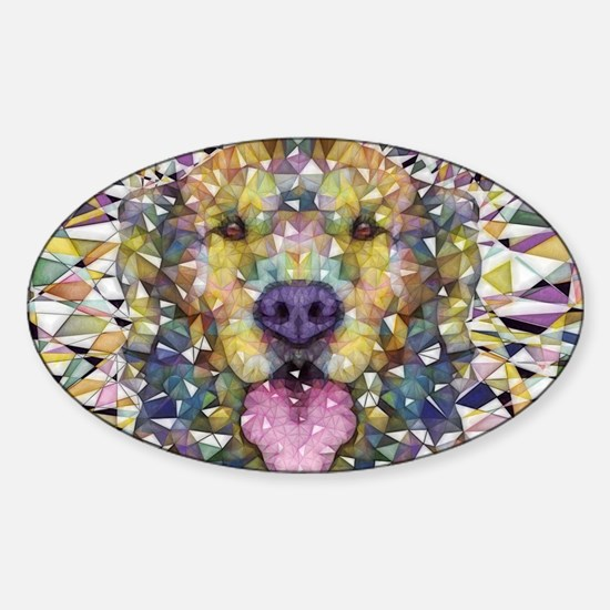 Rainbow Dog Decal