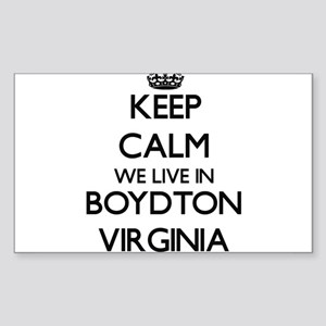Keep calm we live in Boydton Virginia Sticker
