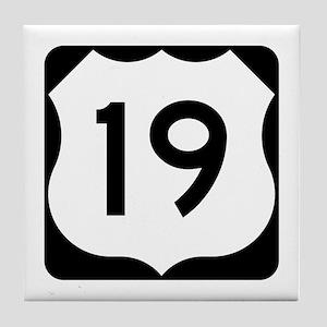 US Route 19 Tile Coaster