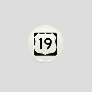 US Route 19 Mini Button