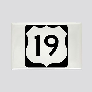 US Route 19 Rectangle Magnet