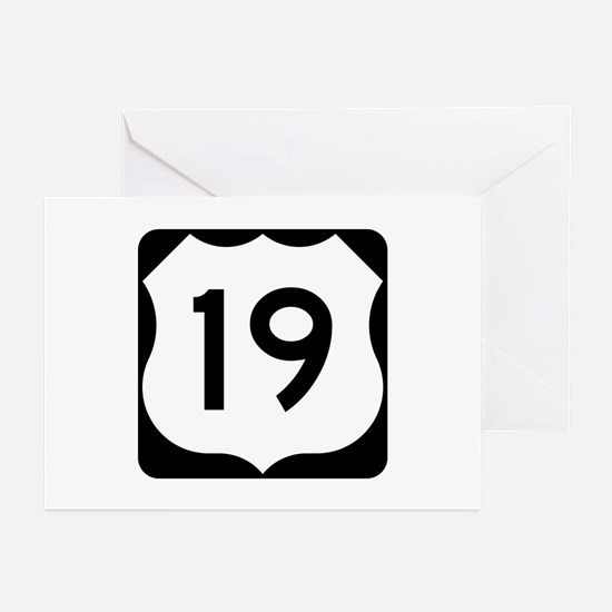 US Route 19 Greeting Cards (Pk of 10)