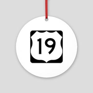 US Route 19 Ornament (Round)