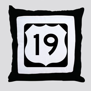 US Route 19 Throw Pillow