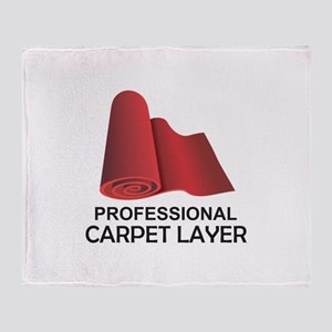 PROFESSIONAL CARPET LAYER Throw Blanket