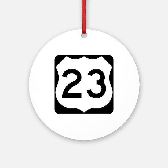 US Route 23 Ornament (Round)