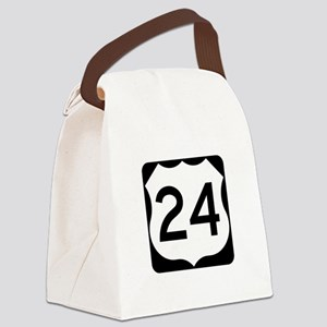 US Route 24 Canvas Lunch Bag