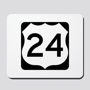 US Route 24 Mousepad