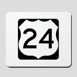 US Route 24 Mousepad