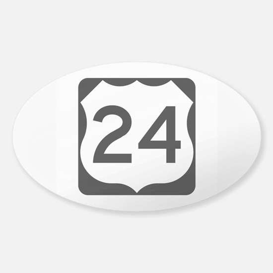 US Route 24 Sticker (Oval)