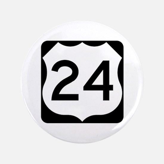 "US Route 24 3.5"" Button"