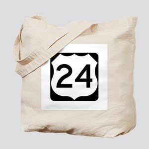 US Route 24 Tote Bag