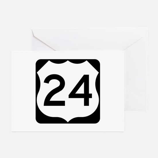 US Route 24 Greeting Cards (Pk of 10)