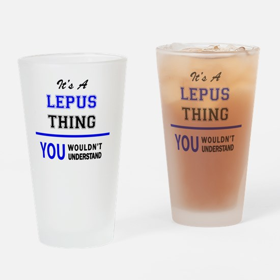 Cute Lepus Drinking Glass