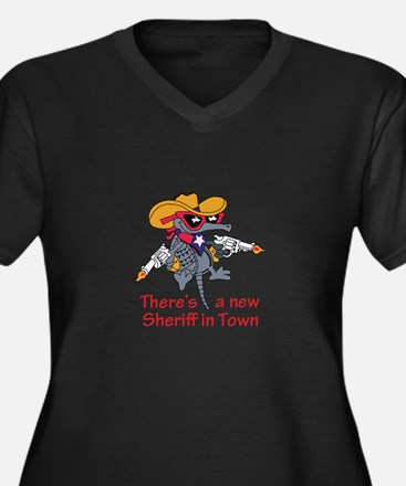 NEW SHERIFF IN TOWN Plus Size T-Shirt