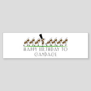 Happy Birthday Candace (ants) Bumper Sticker