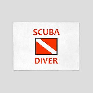 SCUBA DIVER 5'x7'Area Rug