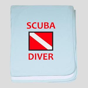 SCUBA DIVER baby blanket