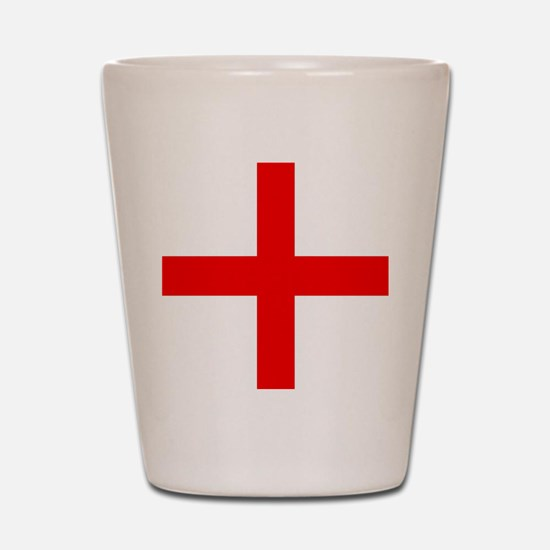 Cute Red cross Shot Glass