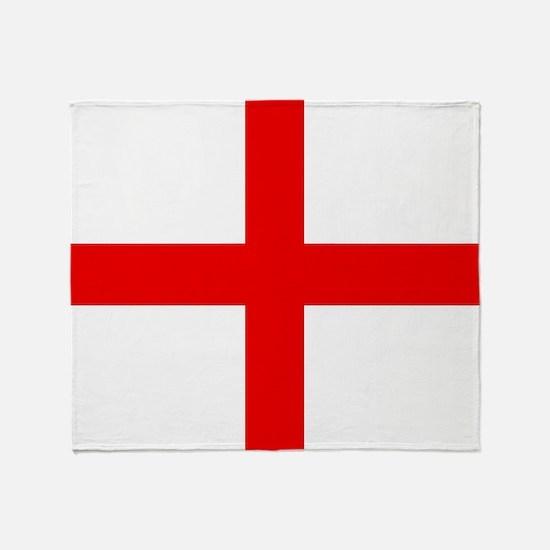 Funny Flag of england Throw Blanket