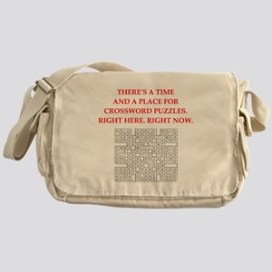 crossword puzzle Messenger Bag