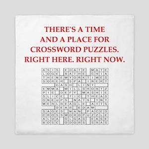 crossword puzzle Queen Duvet