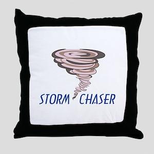 TORNADO STORM CHASER Throw Pillow