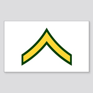 "Army E2 ""Class A's"" Rectangle Sticker"