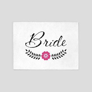 Stylish Bride Calligraphy 5'x7'Area Rug