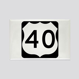 US Route 40 Rectangle Magnet